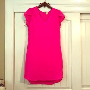 Hot pink midi dress Size M